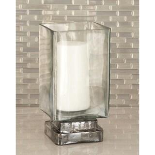 Copper Grove Fossli Glass Candle Hurricane 5 inches wide, 10 inches high