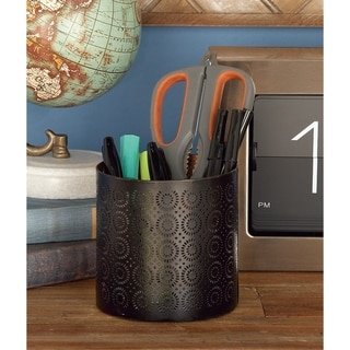 The Curated Nomad Varina-Enon Metal Black Pencil/ Pen Holder