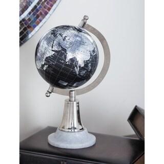 Copper Grove Lobata Metal PVC Black/ Silver Marble Globe