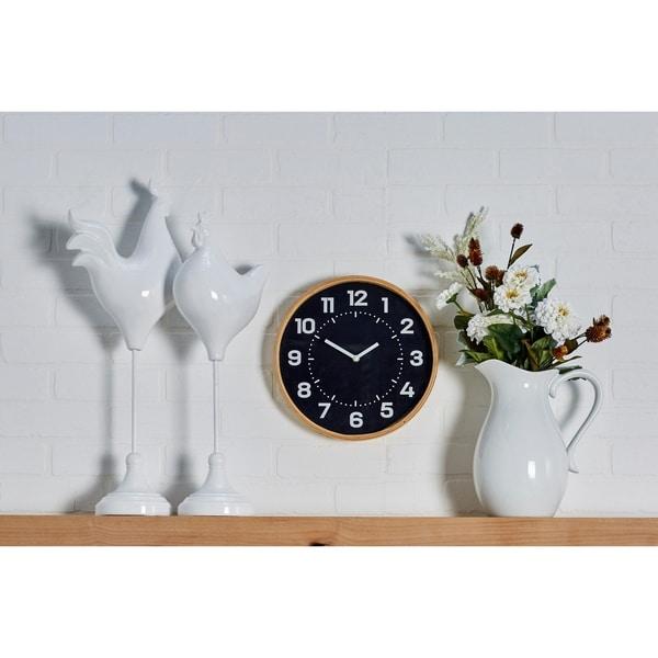 The Gray Barn Wild Cherry 12 inch Rustic Round Analog Wooden Wall Clock