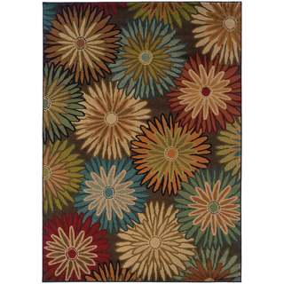 """Copper Grove Lurdstrom Brown/ Blue Transitional Area Rug - 1'10"""" x 3'3"""""""