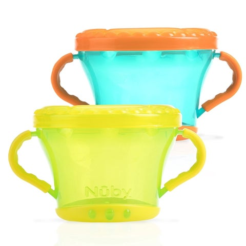 Nuby Snack Keepers - 2 Count - Green/Aqua - Green