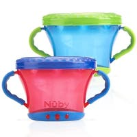 Nuby Snack Keepers - 2 Count - Red/Blue - Red