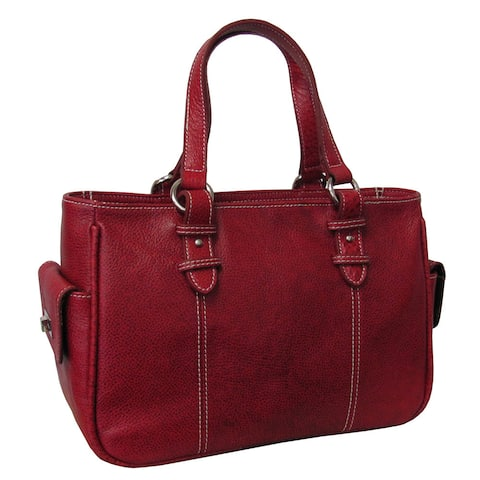 Amerileather Women's Sophisticated Leather Shopper Tote Bag