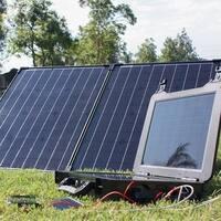 The Phoenix Generator + 100 Watt Monocrystalline Foldable Solar Suitcase Kit