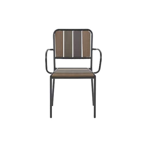 Ink and Ivy Fargo Dark Brown Outdoor Arm Chair (set of 2)