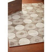 LR Home Grace Beige Modern Circles Indoor Area Rug - 9' x 12'