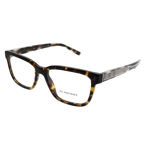 8363ed2b398 Burberry Rectangle BE 2230 3002 Unisex Dark Havana Frame Eyeglasses