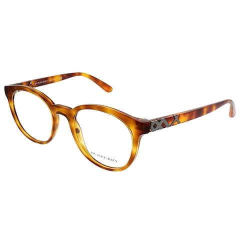 Burberry Round BE 2250 3054 Unisex Light Havana Frame Eyeglasses