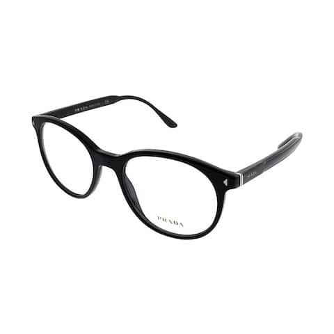 45c89d6a3bbb Prada Square PR 14TV 1AB1O1 Unisex Black Frame Eyeglasses