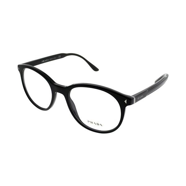 d85456cfe2a Shop Prada Square PR 14TV 1AB1O1 Unisex Black Frame Eyeglasses ...