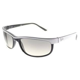 Ray-Ban Rectangle RB 2027 Predator 2 629932 Unisex White on Black Frame Grey Gradient Lens Sunglasses
