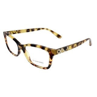 Burberry Rectangle BE 2249 3278 Unisex Light Havana Frame Eyeglasses