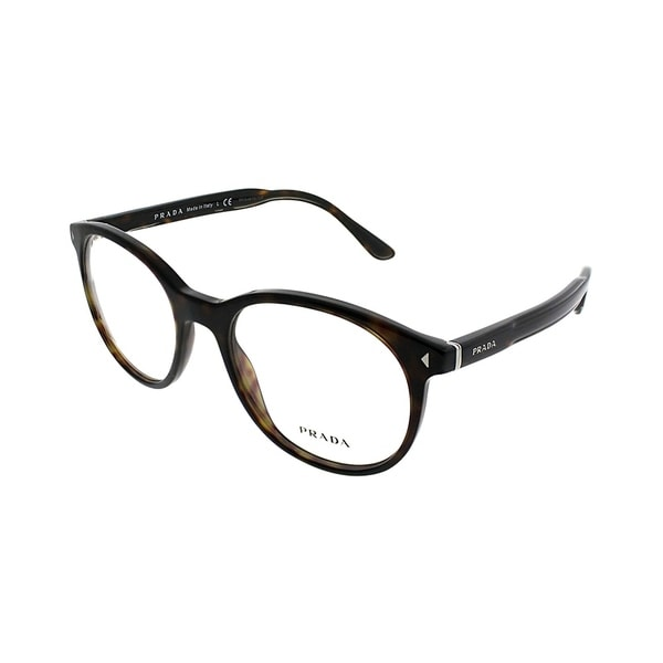 d0267ee939a7b Shop Prada Square PR 14TV 2AU1O1 Unisex Havana Frame Eyeglasses ...