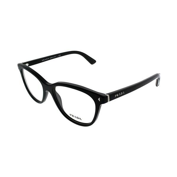 072da54f80f Shop Prada Rectangle PR 14RV 1AB1O1 Unisex Black Frame Eyeglasses ...