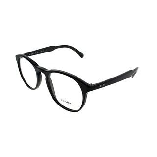 Prada Round PR 19SV 1AB1O1 Unisex Black Frame Eyeglasses