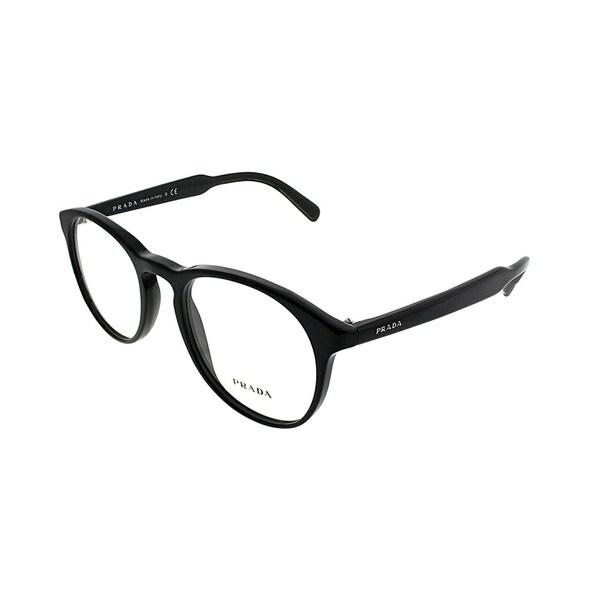 fbffa93945e Shop Prada Round PR 19SV 1AB1O1 Unisex Black Frame Eyeglasses - Free  Shipping Today - Overstock - 21017245