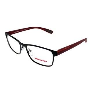 Prada Linea Rossa Rectangle PS 50GV TFZ1O1 Unisex Grey Rubber Frame Eyeglasses