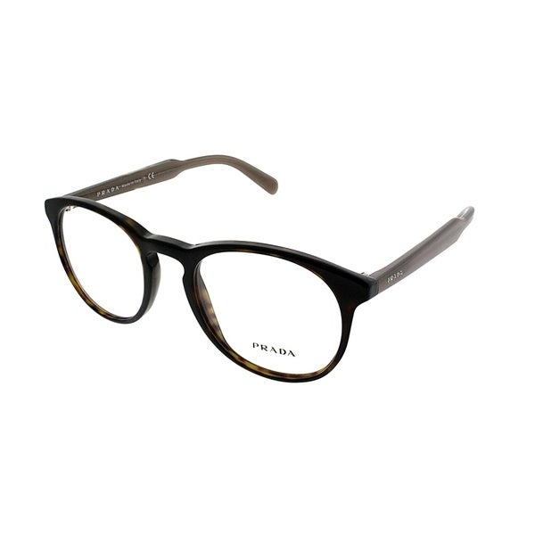 087f5fa9f9b Shop Prada Round PR 19SV 2AU1O1 Unisex Havana Frame Eyeglasses - On ...