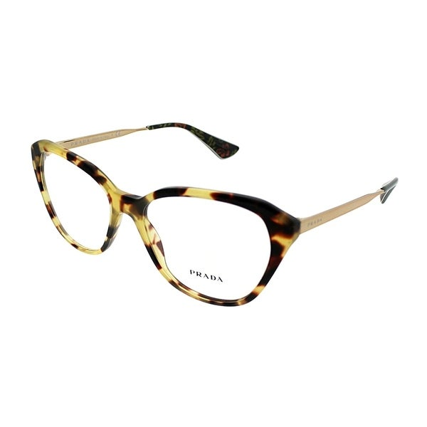 f0f3e087f2e Prada Cat-Eye PR 28SV Cinema 7S01O1 Women Medium Havana Frame Eyeglasses