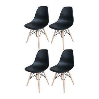 Offex Tools Office Offex Black Wooden Leg Accent Chairs - 4 Piece Set