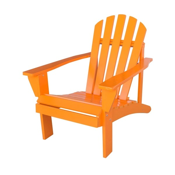 Exceptionnel Offex Outdoor Solid Wood Adirondack Chair With Painted Finish   Tangerine