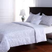 Baroque Damask Five Piece Comforter Set