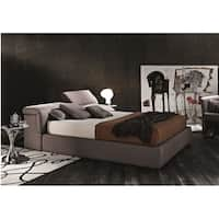 J&M Tower K S600 Taupe Fabric Hydraulic Lift Storage Bed