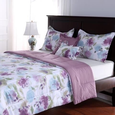 Fresh Florals Five Piece Comforter Set