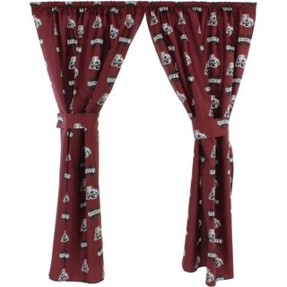 Mississippi State Bulldogs 100% Cotton, Curtain Panels, Set of 2