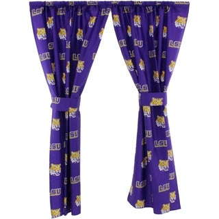 LSU Tigers 100% Cotton, Curtain Panels, Set of 2 - N/A