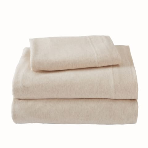 Great Bay Home Extra Soft Heather Jersey Knit Bed Sheet Set