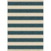"Boldstripe Admiral Blue Area Rug by Orian Rugs - 7'8"" x 10'10"""