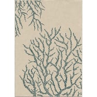 """All Over Coral White Area Rug by Orian Rugs - 5'2"""" x 7'6"""""""