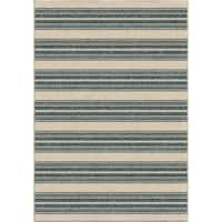 "Stripe Admiral Blue Area Rug by Orian Rugs - 5'2"" x 7'6"""