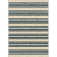 """Stripe Admiral Blue Area Rug by Orian Rugs - 7'8"""" x 10'10"""""""
