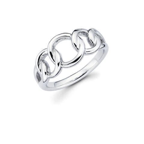 Sterling Silver Overlapping Circles Ring