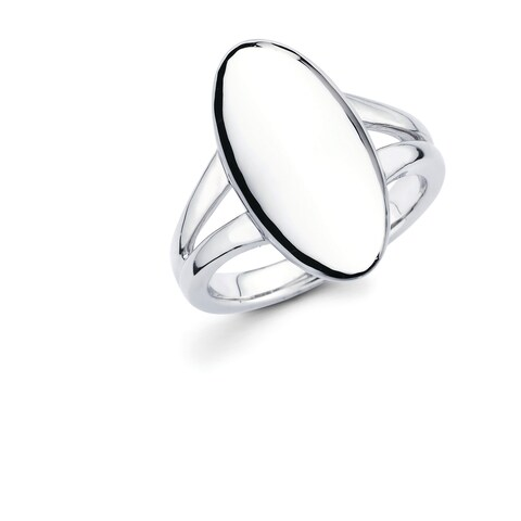 Sterling Silver Oval Fashion Ring