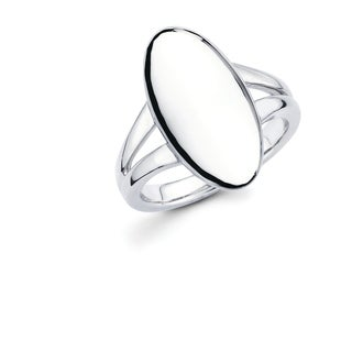 Sterling Silver Oval Fashion Ring (4 options available)