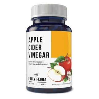 Fully Flora High Potency Apple Cider Vinegar 1150 mg Complex Capsules (60 Count)