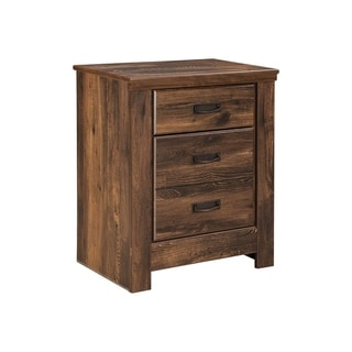 Quinden Dark Brown Nightstand