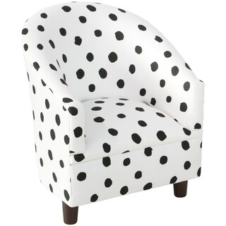 Skyline Furniture Kid's Tub Chair in Painted Dot Black White