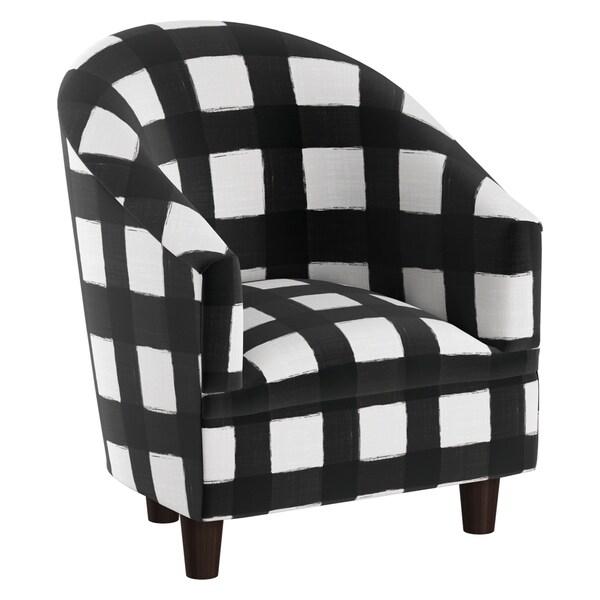 Skyline Furniture Kidu0026#x27;s Tub Chair In Buffalo Square Black
