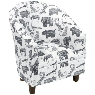 Skyline Furniture Kid's Tub Chair in Menagerie Grey