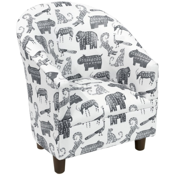 Shop Skyline Furniture Kid S Tub Chair In Menagerie Grey