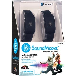 Cra-Z-Art SoundMoovz Musical Bandz, Motion-Activated, Bluetooth Music player - Black