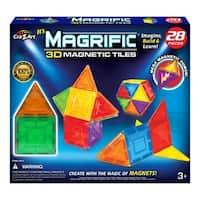 Cra-Z-Art Magrific 3D Magnetic Tiles - Magnetic Toy Set (28-Piece)