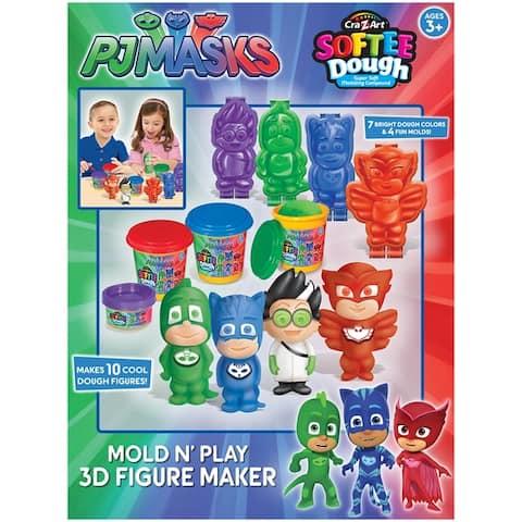 Cra-Z-Art Disney Junior PJ Masks 3D Mold N' Play Softee Dough Figure Maker