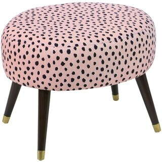 Skyline Furniture Oval Ottoman in Pardo Blush