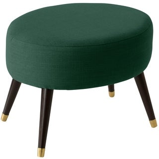Skyline Furniture Oval Ottoman in Linen